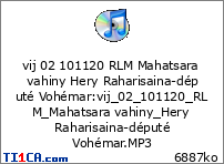 vij 02 101120 RLM Mahatsara vahiny Hery Raharisaina-député Vohémar